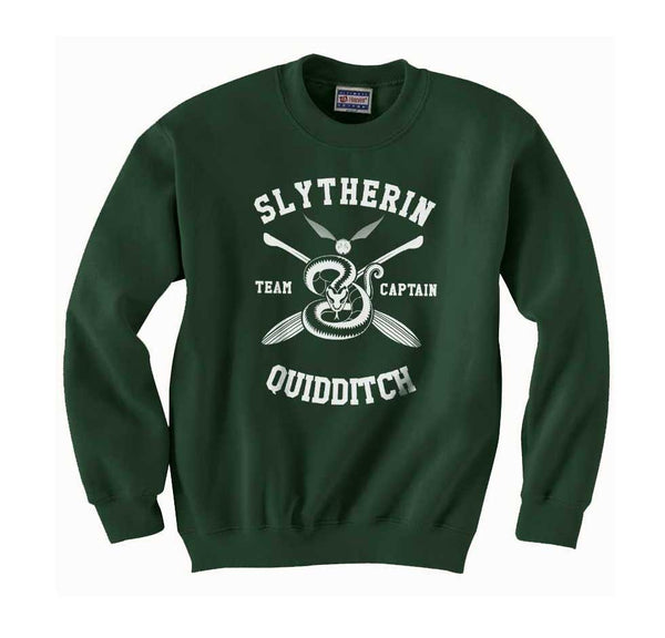 Slytherin CAPTAIN Quidditch Team Unisex Crewneck Sweatshirt PA New Adult