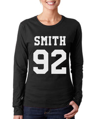 Smith 92 On FRONT Sam Smith Long sleeve T-shirt for Women