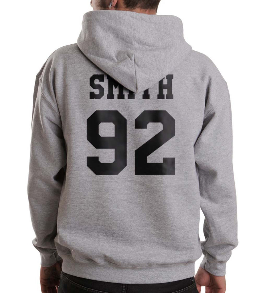 Smith 92 Black Ink On BACK Sam Smith Unisex Pullover Hoodie - Meh. Geek