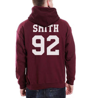 Smith 92 White Ink On BACK Sam Smith Unisex Pullover Hoodie - Meh. Geek