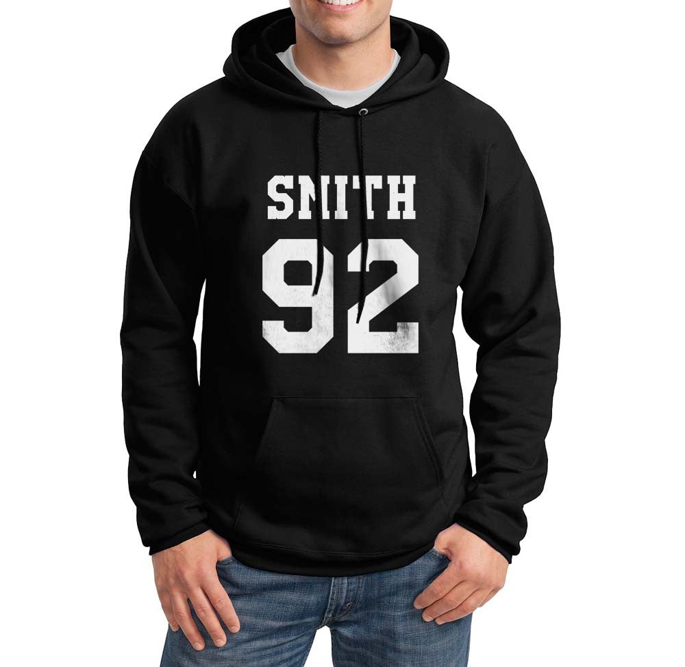 Smith 92 White Ink On FRONT Sam Smith Unisex Pullover Hoodie - Meh. Geek