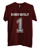 Sourwolf 1 on Front Beacon Hills Lacrosse Teen Wolf Men T-shirt