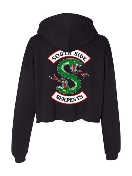 South Side Serpents Back Only Cropped Hoodie