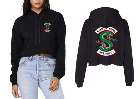 South Side Serpents Front Back Cropped Hoodie