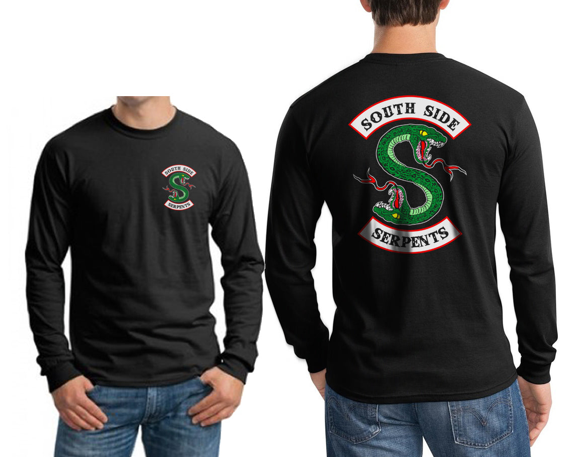 f8fd0593 Southside Serpents Front and back Riverdale Long Sleeve T-shirt for Me –  Meh. Geek