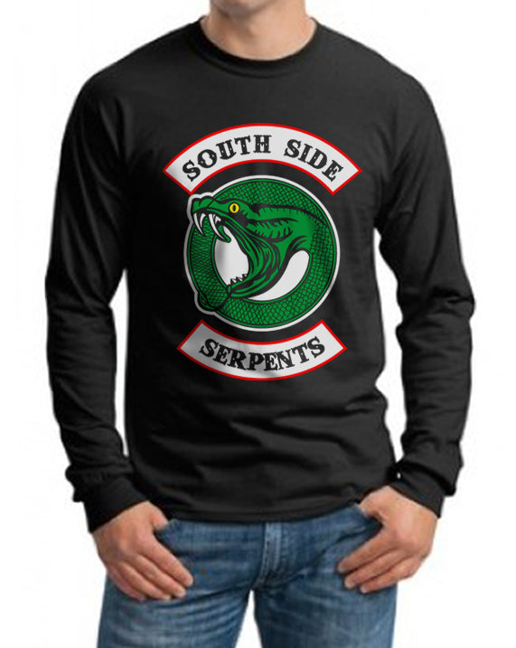 Teen Serpents Southside Serpents Riverdale on front Long Sleeve T-shirt for Men