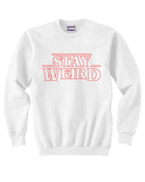 Stay Weird Outline Unisex Crewneck Sweatshirt Adult