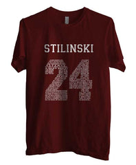 Stilinski 24 Quote on Front Beacon Hills Lacrosse Teen Wolf Men T-shirt - Meh. Geek - 3