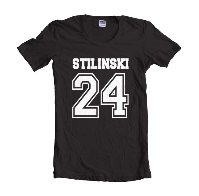 Stilinski 24 White Ink on front Beacon Hills Lacrosse Teen Wolf Unisex Women T-shirt - Meh. Geek