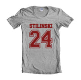 Stilinski 24 Maroon Ink on front Beacon Hills Lacrosse Teen Wolf Women T-shirt