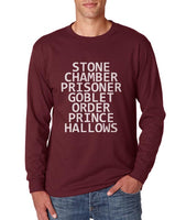 Stone Chamber Prisoner Goblet Order Prince Hallows Long sleeve T-shirt for Men