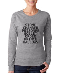 Stone Chamber Prisoner Goblet Order Prince Hallows Long sleeve T-shirt for Women