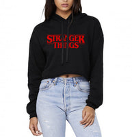 Stranger Things Red Cropped Hoodie