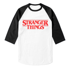 Stranger Things full red Unisex 3/4 Raglan Tee