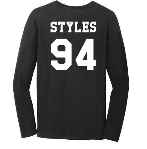 Styles 94 on BACK Harry Styles Long sleeve T-shirt for Women