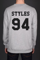 Styles 94 Black Ink on Back Harry Styles Crewneck Sweatshirt - Meh. Geek