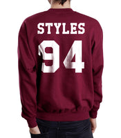 Styles 94 White Ink on Back Harry Styles Crewneck Sweatshirt - Meh. Geek