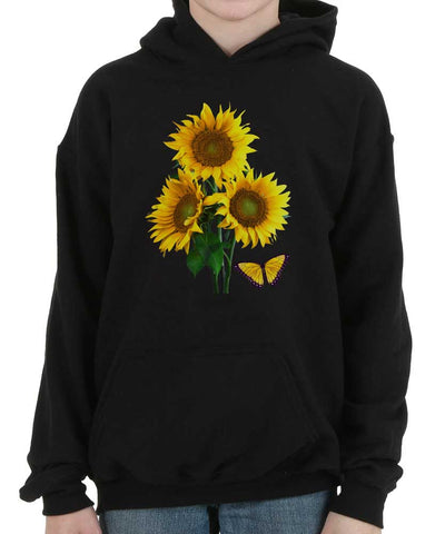 Sunflower Butterfly Kid / Youth Hoodie