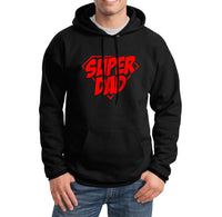 Super dad Red Ink Gift For Father Unisex Pullover Hoodie - Meh. Geek