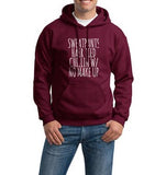 Sweatpants Hair Tied Chillin With No Make Up Unisex Pullover Hoodie - Meh. Geek