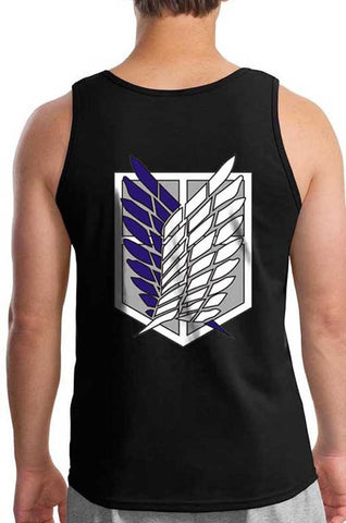 Attack on Titan Blue Ink on Back Singeki no Kyojin Men Tank Top - Meh. Geek - 1