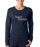 Team Damon The Vampire Diaries Long sleeve T-shirt for Women