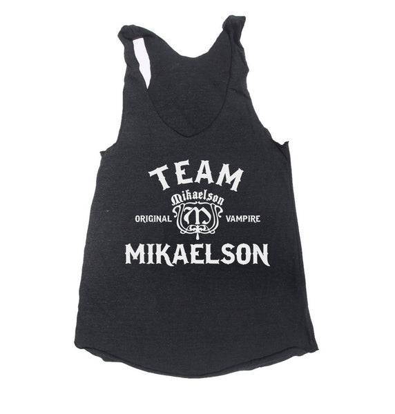 Team Mikaelson Triblend Racerback Women Tank Top