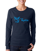 Team Mystic BLUE Ink On Front Pokemon Go Long sleeve T-shirt for Women