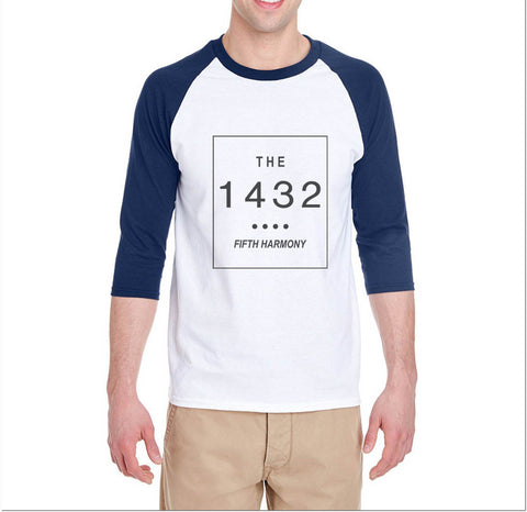 The 1432 Fifth Harmony Unisex 3/4 Raglan Tee - Meh. Geek - 1