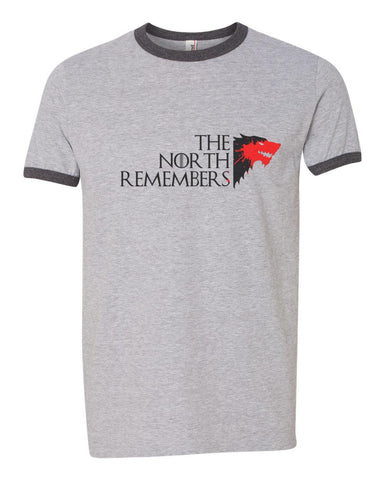The North Remembers New Direwolf Ringer Unisex T-shirt / tee