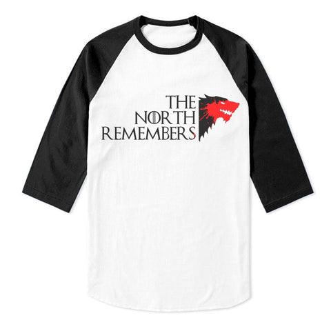 The North Remembers New Game of Thrones Unisex 3/4 Raglan Tee
