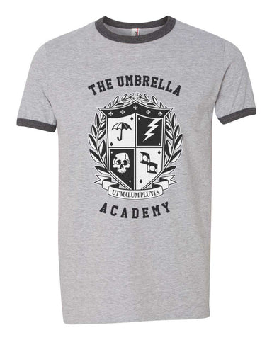 The Umbrella Academy New Crest Ringer Unisex T-shirt / tee