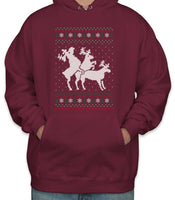 Humping Reindeer Threesome Sweater Unisex Pullover Hoodie
