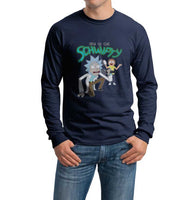 Time To Get Schwifty Rick And Morty Men Long Sleeve T-shirt Tee