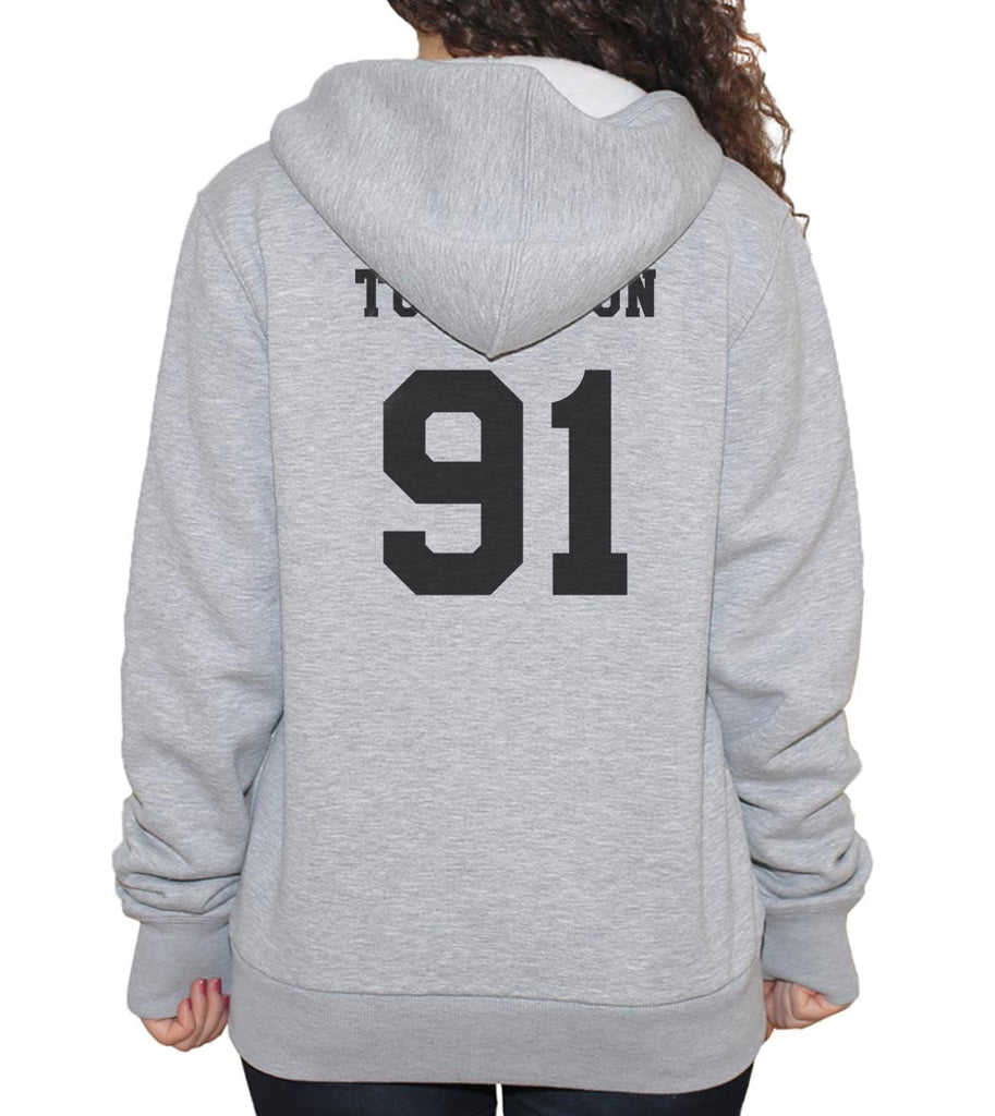 Tomlinson 91 Black Ink On BACK Louis Tomlinson Unisex Pullover Hoodie - Meh. Geek
