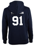 Tomlinson 91 White Ink On BACK Louis Tomlinson Unisex Pullover Hoodie - Meh. Geek