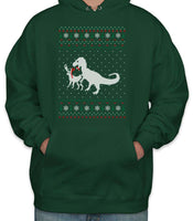 T-Rex Ugly Sweater Unisex Pullover Hoodie
