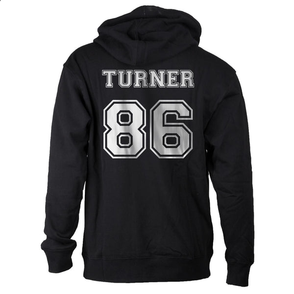 Turner 86 White Ink on BACK Alex Turner Unisex Pullover Hoodie - Meh. Geek