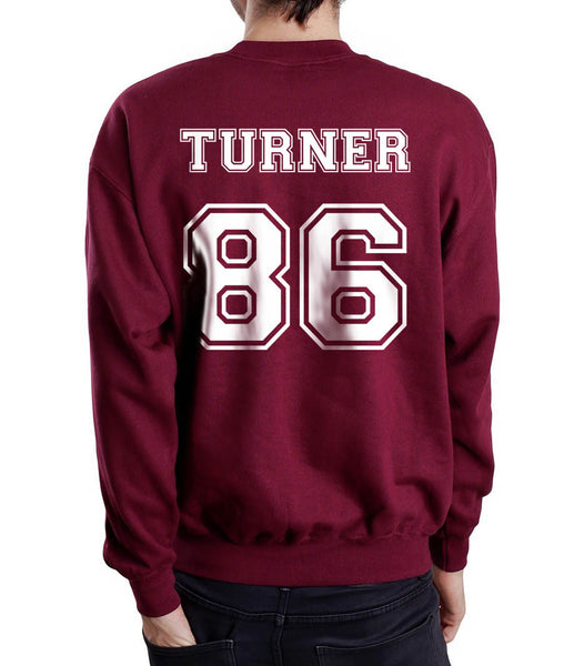 Turner 86 White Ink on Back Alex Turner Crewneck Sweatshirt - Meh. Geek