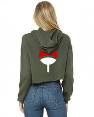Uchiha Clan Front Back Cropped Hoodie