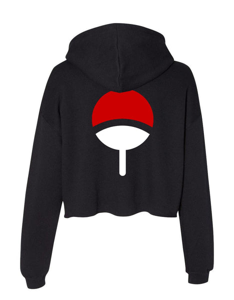 Uchiha Clan Back Only Cropped Hoodie