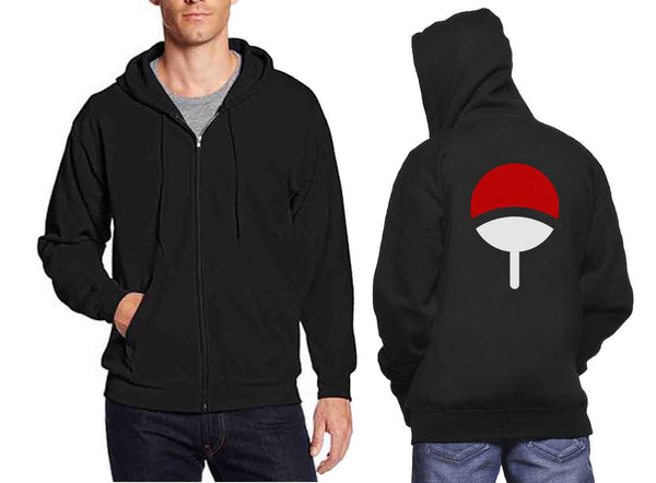 Uchiha Clan Back Only Unisex Zip Up Hoodie