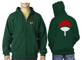 Uchiha Clan Front and Back Unisex Zip Up Hoodie