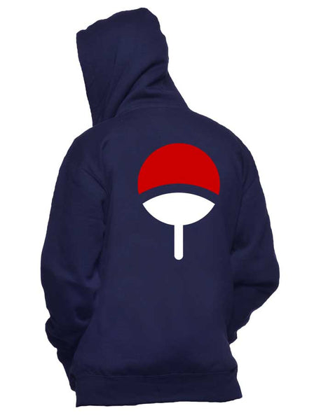 Uchiha Clan Symbol on back only Naruto Unisex Pullover Hoodie