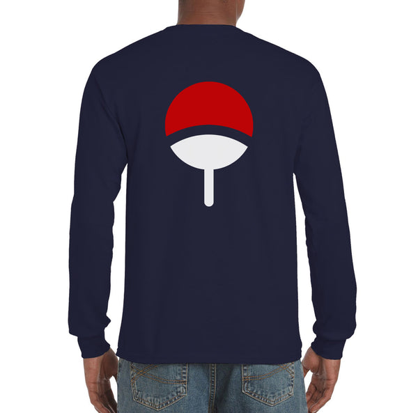 Uchiha Clan on back only Naruto Long Sleeve T-shirt for Men