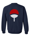 Uchiha on Back Naruto Unisex Crewneck Sweatshirt Adult