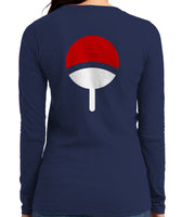 Uchiha On BACK Naruto Long sleeve T-shirt for Women