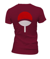 Uchiha On BACK Logo Pocket On FRONT Naruto Women T-shirt