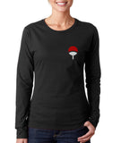 Uchiha Logo Pocket On FRONT Naruto Long sleeve T-shirt for Women