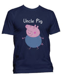 Uncle Pig Men T-shirt / Men Tee